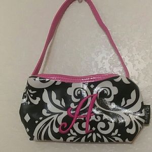 Girls purse with monogrammed A